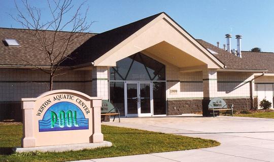 New Aquatic Center BathHouse - Exterior Etnry