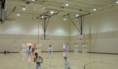 Children Playing in Faith Evangelical Free Church Gym by Wisconsin Project Architect & Designer